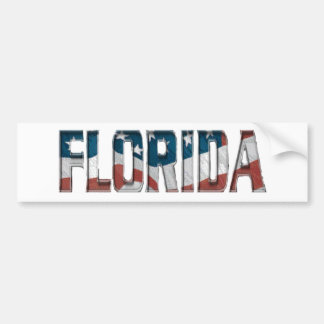 Patriotic Florida on American Flag Bumper Sticker
