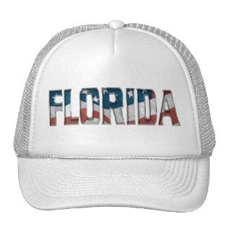 Patriotic Florida on American flag - Hat