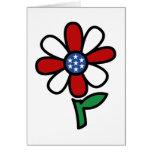 Patriotic flower card