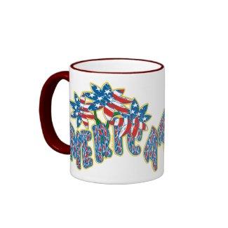 Patriotic Flowers mug