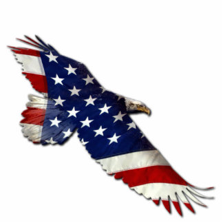 Patriotic Flying Bald Eagle Flag Sculpted Magnet Photo Cutouts