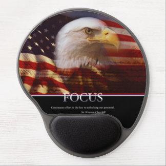 Patriotic Focus Design Gel Mouse Pad
