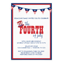 Patriotic Fourth of July Party Banners Invitation