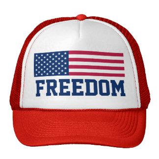 Patriotic Freedom American Flag Trucker Hat