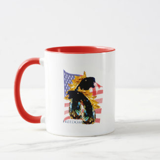 Patriotic Freedom Horses Mug