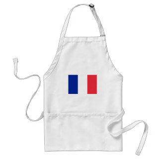 Patriotic French Flag Adult Apron
