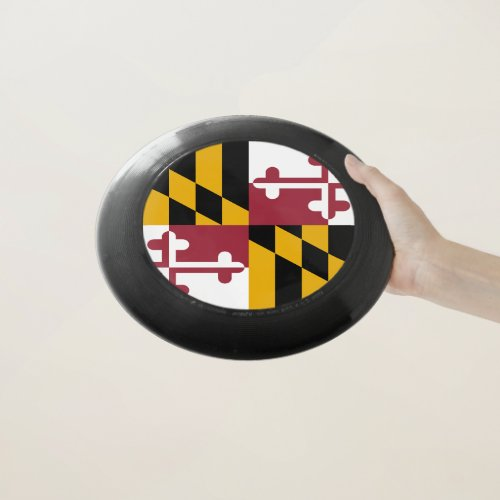 Patriotic Frisbee with Flag of Maryland