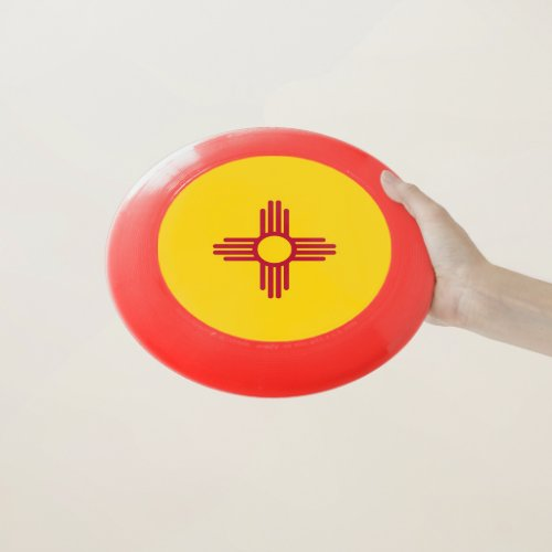 Patriotic Frisbee with Flag of New Mexico