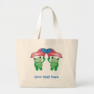 Patriotic Frog Tote Bag
