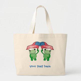 Patriotic Frog Tote Bag