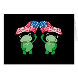 Patriotic Frog Card
