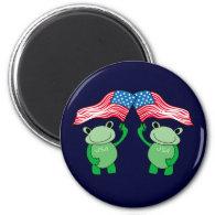 Patriotic Frog Magnet