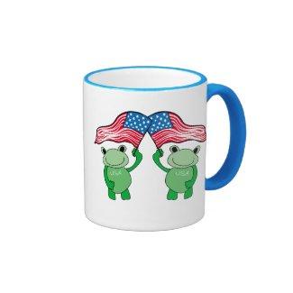 Patriotic Frog Mugs