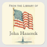 "Patriotic ""From the Library of"" Sticker"