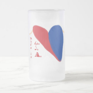 Patriotic Frosted Glass Beer Mug