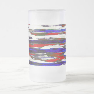 Patriotic ~ Frosted Glass Mug 16oz