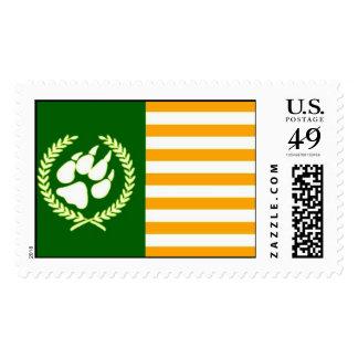 Patriotic Furry Flag Stamps