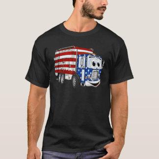 Patriotic Garbage Truck Cartoon T-Shirt