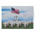 Patriotic Geese Saluting The American Flag Greeting Card