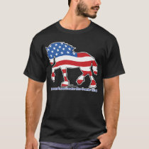 Patriotic Gentle Giant Draft Horse T-Shirt