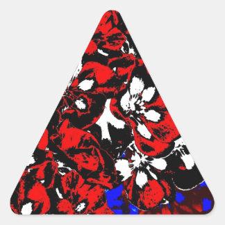 Patriotic Geraniums Triangle Sticker