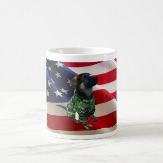 Patriotic German Shepherd Puppy Mug