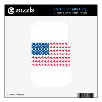 Patriotic German Shepherds iPod Touch 4G Skin