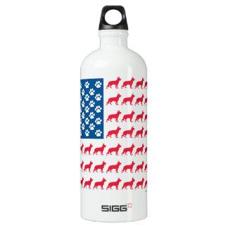 Patriotic German Shepherds Water Bottle