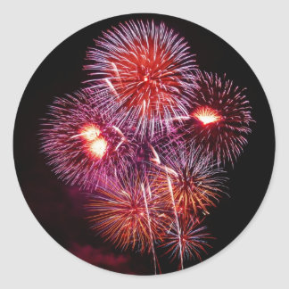 Patriotic Gifts Fireworks from the 4th of July Classic Round Sticker