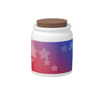 Patriotic Gifts Stars Red White Blue Candy Dishes