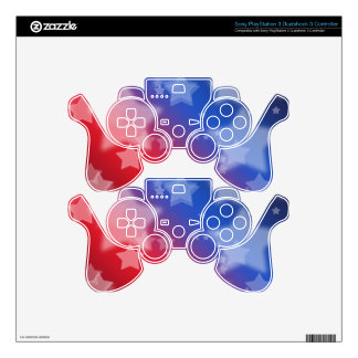 Patriotic Gifts Stars Red White Blue Skin For PS3 Controller