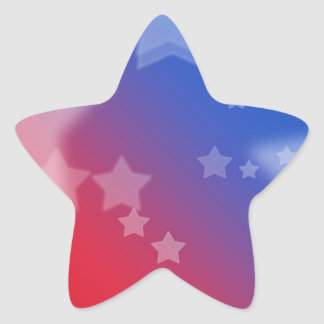 Patriotic Gifts Stars Red White Blue Star Sticker