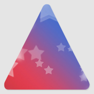 Patriotic Gifts Stars Red White Blue Triangle Sticker