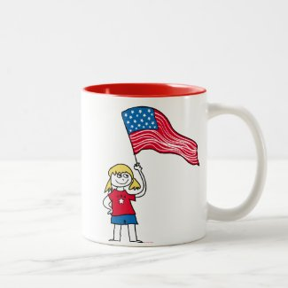 Patriotic Girl Mugs
