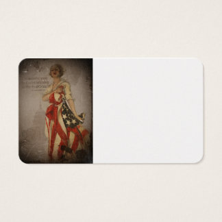 Patriotic Girl Draped in Flag Business Card
