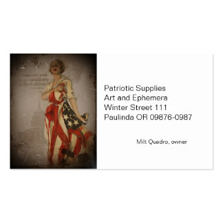 Patriotic Girl Draped in Flag Double-Sided Standard Business Cards (Pack Of 100)
