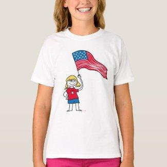 Patriotic Girl T-shirt