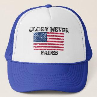 Patriotic Glory Never Fades Trucker Hat