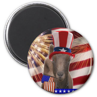 PATRIOTIC GOAT 4th OF JULY GIFTS Magnet