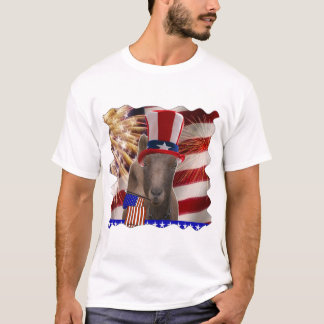 PATRIOTIC GOAT 4th OF JULY GIFTS T-Shirt