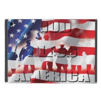 Patriotic God Bless America American Flag Cases For iPad Mini