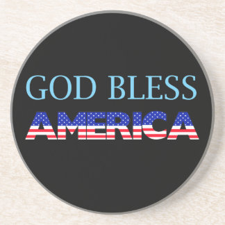Patriotic God Bless America Drink Coaster