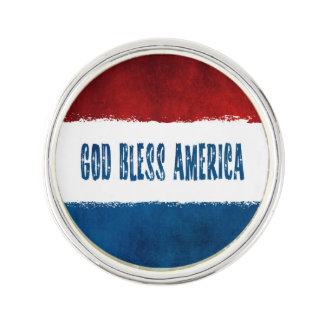 Patriotic God Bless America Lapel Pin
