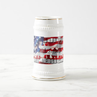 Patriotic God Bless America U.S.A Flag Beer Stein