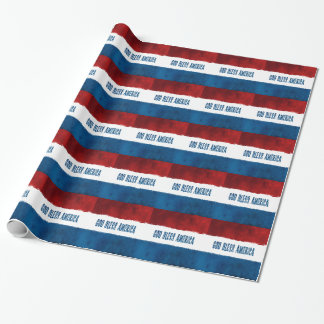 Patriotic God Bless America Wrapping Paper