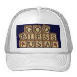 Patriotic God Bless USA Stars Cap Hat