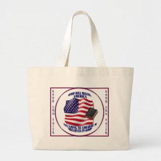 Patriotic-GodBlessAmerica.png Bolsa De Mano