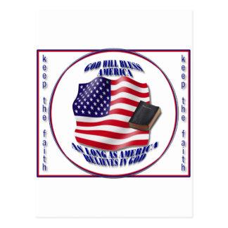 Patriotic-GodBlessAmerica.png Postcard