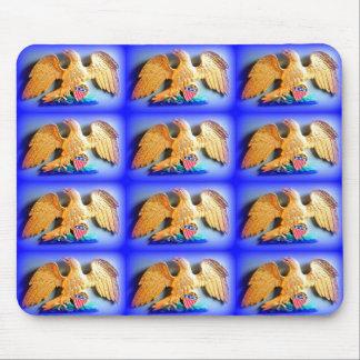 patriotic gold eagles mousepad