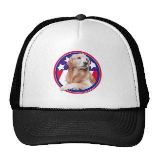 Patriotic Golden Retriever Hats
